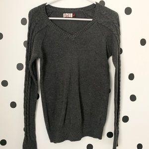 🌈5/$25🌈SO Grey v neck sweater size L